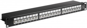 CAT 6A Ethernet Patch Panel 24 Port STP Geschirmt
