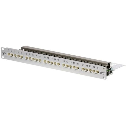 METZ CONNECT UAE 25x8(4) Patchfeld CAT 3, 1HE, silber